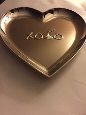 Hersheys Hugs & Kisses Plate/Dish Silver Plated Heart Shaped Candy Plate
