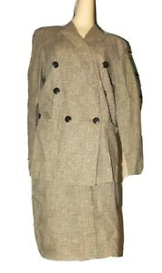 BYER TOO Matching Suit Set BLAZER Jacket & SKIRT Outfit Camel Black juniors 3