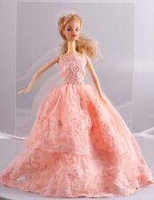 Wholesale Handmade Orange The original soft clothes dress for barbies doll 1105