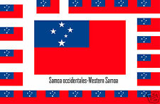 Assortiment lot de 25 autocollants Vinyle stickers drapeau Samoa-occidentales