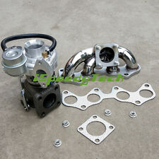 CT9 Turbo&Exhaust Manifold FOR Starlet GT 1.3L EP82 EP85 EP91 4EFE 4EFTE SS304
