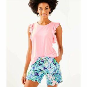 NWT Lilly Pulitzer Austen Top Pink Tropics Tint XS
