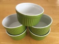 BIA Cordon Bleu 6 Ounce Stoneware Ramekin Texture , Set Of 5, Grass Green, HTF