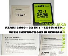 ATARI 2600 32 in 1 CX26163P GAMES cartridge new neu VCS Anweisungen auf Deutsch