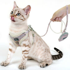 Pink Escarf Proof Pet Cat Walking Jacket Harness Leash Set with Snack Treat Bag