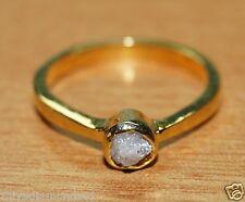 Natural Gray Raw Rough Diamond Ring uncut diamond 925 silver Promise ring BK00