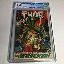 Thor # 148 CGC 8.0 1st Wrecker Origin Of Black Bolt Silver Age Marvel 1968