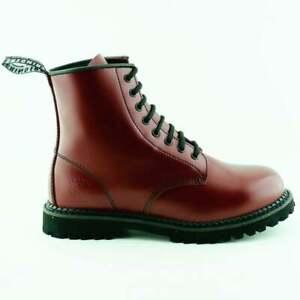 Grinders Cedric 8 Eye Boots Red Men's