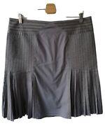 Ted Baker Skirt Size 4 W34 L22 UK14 USA10 EU42 grey pleat zip summer knee length