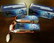 2x Gens Ace 3S 2200mAh 11.1V 25C/50C Lipo Battery Deans ZIPPY TURNIGY PARKZONE