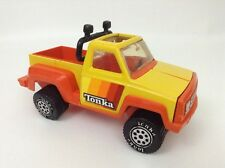 "Vintage 1979 Tonka 9"" Pickup Truck Orange Yellow Side Step Pressed Steel Plastic"