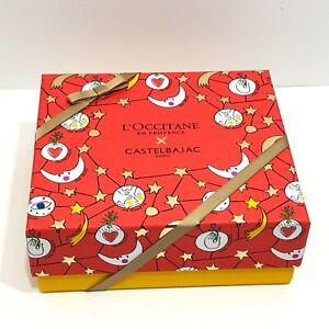 L'Occitane En Provence x Castelbajac Red Yellow 7 x 6 x 3 Empty Gift Box Only
