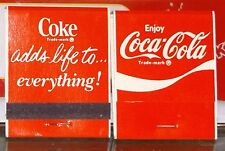 COCA COLA OLD MATCH BOOK NEW OLD STOCK