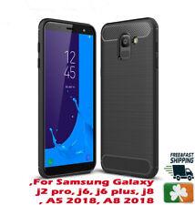 Brand NEW Rugged Armor Case For Samsung Galaxy J4 J6 J8 A5 Carbon Fiber Design