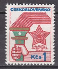 CZECHOSLOVAKIA 1973**MNH SC# 1865 Torch and Star