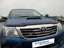 Toyota Hilux INVINCIBLE 2012-2015 Bonnet Guard Protector Bug Shield (Dark Smoke)