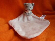 Tesco F&F Bear Pink Comforter Blankie Doudou Soft Toy 2012