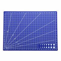 Blue A4 Grid Line Self Healing Cutting Mat Craft Card Fabric Leather Paper Board