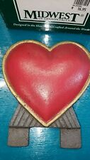 Midwest of Cannon Falls Cast iron doorknocker topper red heart