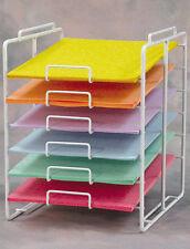 "Scrapbook Paper Organizer Rack Store Display 6-Tier White 8.5""x11"" Lot Of 2 New"