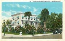 Florida, FL, Cocoa, Cocoa House on the Indian River Early Linen Postcard