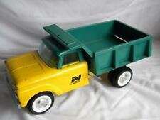 Vtg Pressed Steel Toy FORD Dump Truck~NYLINT~Yellow Cab~Green Bed~Construction