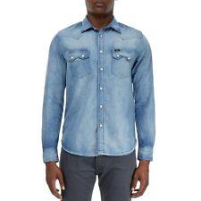 Camicie casual da uomo blu Lee