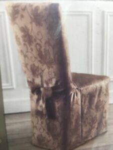 """Mushroom Autumn Vine Dining Room Chair Cover-Fits Up to 42"""" Tall x 21"""" Wide"""