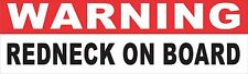 Warning Redneck On Board Bumper Sticker Vinyl Decal Humor Funny Country Camo aR