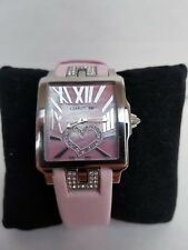 LOVE Cerruti Women's Odissea Donna Pink Heart SWISS Watch Rectangle Girls Ladies