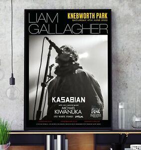 Liam Gallagher Knebworth Park Tour Poster Kasabain Oasis Professional Print