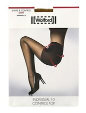 Wolford Individual 10 Soft Control Top Tights in Gobi 8514 Size M