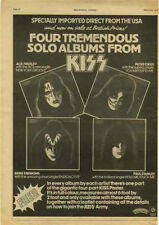 KISS Rock Music Clippings, Cuttings & Articles