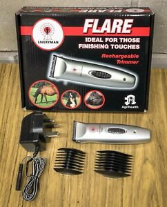 Liveryman Rechargeable Flare Horse Pony Trimmer Trimmers Cordless Quiet Clipper