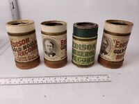Set of 4 Edison Wax Cylinder Gold Moulded Records - 3283, 3134, 3308, 3052