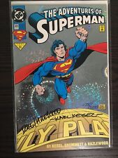 Adventures of Superman #505 (Oct 1993, DC) Signed By Hazelwood & Kesel