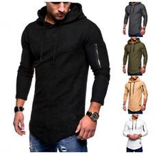 Men's Slim Fit Hoodie Long Sleeve Muscle Tee T-shirt Casual Tops Blouse