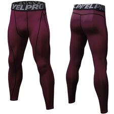 Men Athletic Compression Long Pants Workout Base Layer Running Tights Trousers