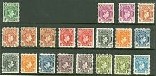 Nigeria 1938 mint selection on 2 stock cards Values to 5/-. Various perf shade..