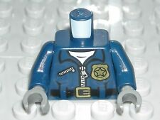 LEGO Dark Blue Torso Police Jacket Badge Captain Stacy Minifigure 76052