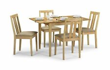 Julian Bowen Rufford Square Dining Set Extending Solid Wood Table 4 Chairs