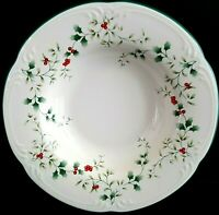 Pfaltzgraff Christmas Winterberry 10 Rim Soup Bowls Fast Ship More Pcs Available