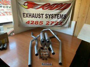 Holden HQ HJ HZ HX WB 1 TONNER 2 INCH DUAL EXHAUST SYSTEM FROM EXTRACTORS