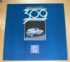 PEUGEOT 309 SALES BROCHURE January 1986 Peugeot UK issue GE GR SE SR SRi