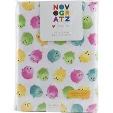 "Novogratz Easter Chicks Tablecloth 60"" x 104"" Oblong Spring"