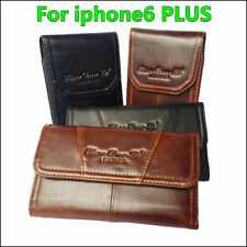 Estuche De Cuero Genuino Clip de Cinturón Pistolera Estuche Funda Para iPhone 7 Plus XS Max