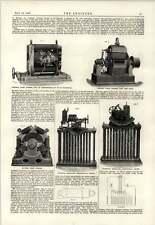 1889 Thury Dynamo 2 Lámpara de arco regulador potencial de Polo
