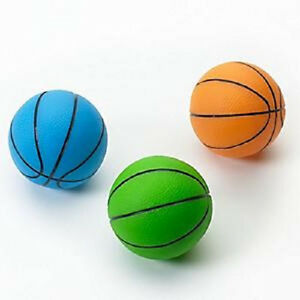 """ETHICAL SPOT VINYL BASKETBALL 3"""" ASSORTED COLORS DOG TOY SQUEAKER. FREE SHIP USA"""
