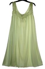 Light Green RUFFLE SATIN LACE SLEEVELESS WOMENS NIGHTGOWN SLEEPWEAR #9017- Sz XL