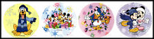 Disney Store Mickey Mouse Minnie Gang Donald Duck Christmas Stickers Set 4